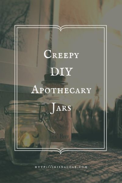 Cheap DIY Apothecary Jars for Halloween