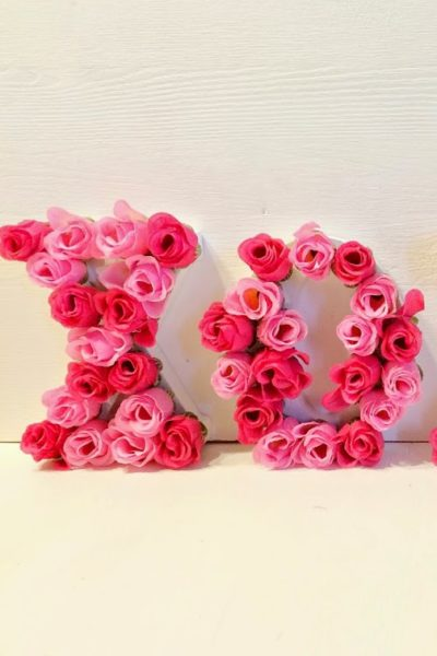 Valentine's Day Craft-XOXO Floral Letters