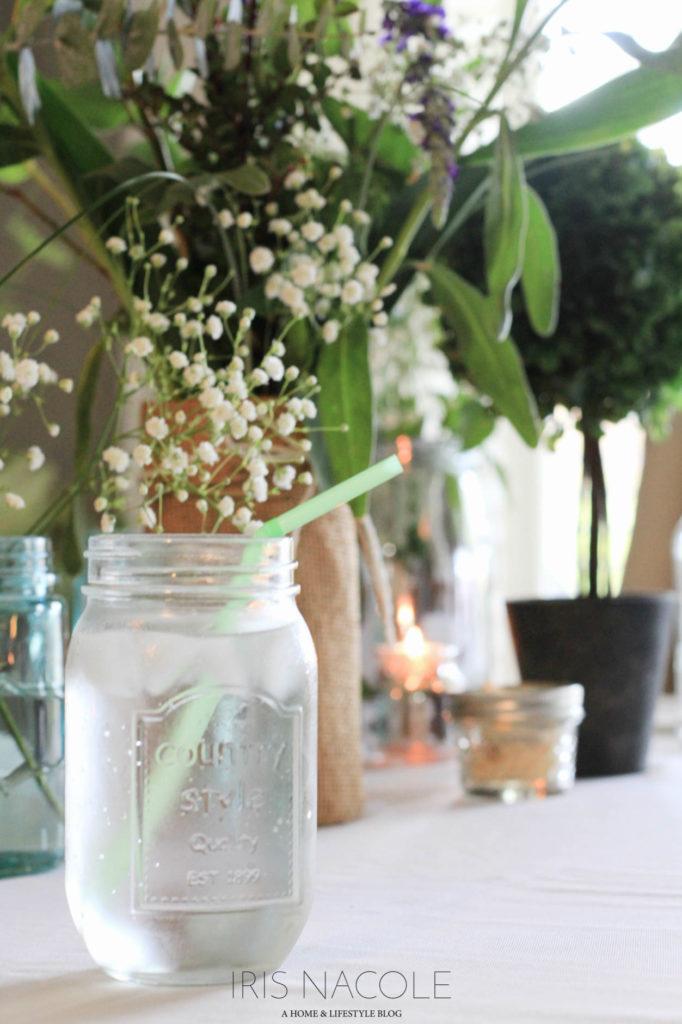 Entertaining/Host Ideas Garden Party Floral Tablescape IrisNacole.com