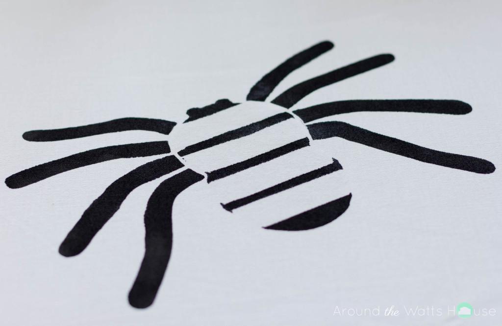Cutting-Edge-Stencil-Paint-a-Pillow-Spider-Stencil