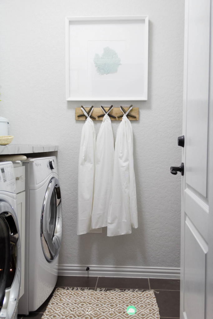 Coastal-Laundry Room-Laundry Room Makeover-One Room Challenge-Fall 2015-Around the Watts House