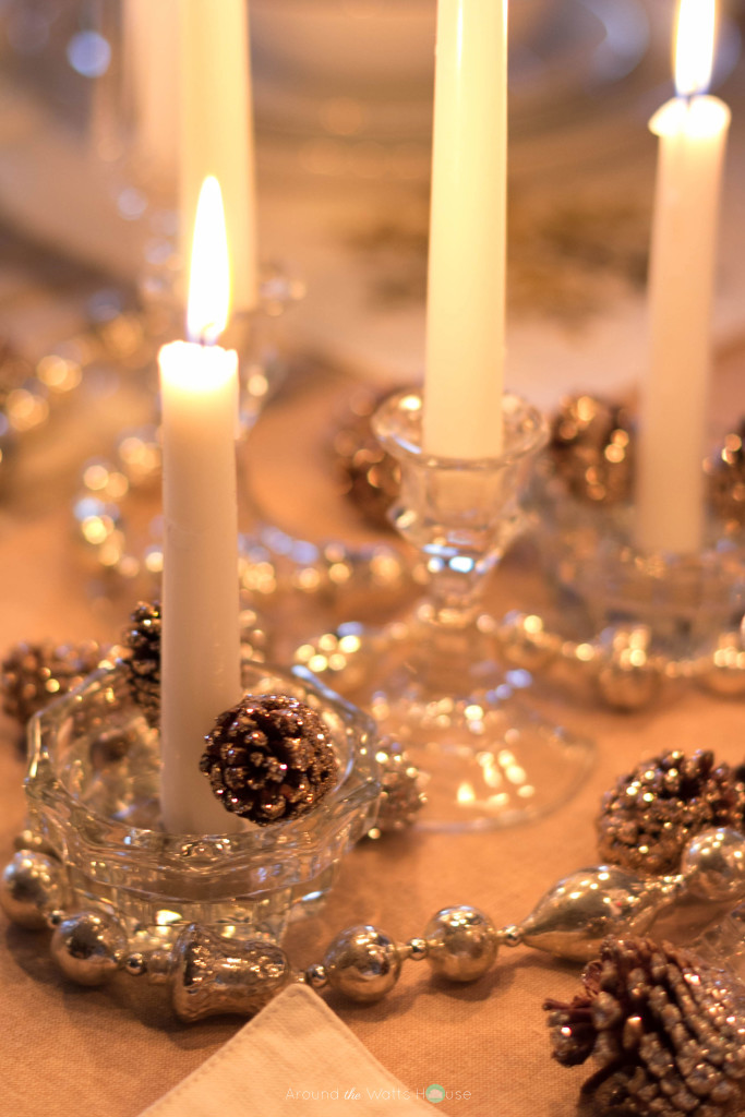 Christmas-Holiday Home Tour-Dining Table Decorations