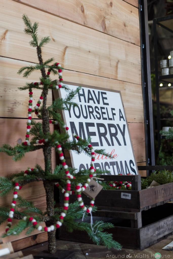 Magnolia-Market-Garland-Christmas Tree-and Christmas Sign