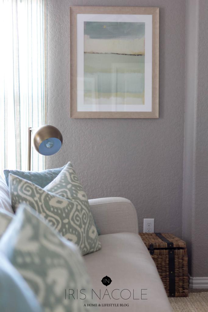 Shop the House Design Challenge-Coastal Style Family Room IrisNacole.com