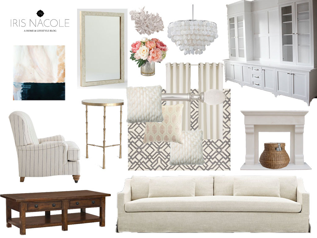 New Year, New Room Challenge, Decor, Neutral, Romantic, Decor, Coastal, Builtin, Metallic IrisNacole.com