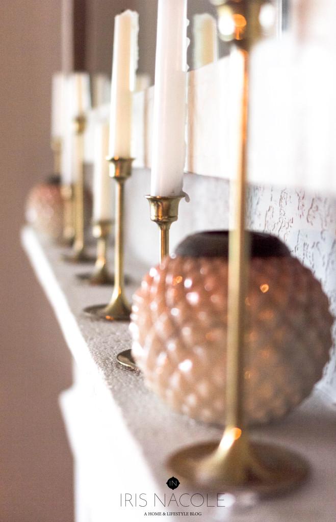 Thrifty Décor-Brass Candlesticks-IrisNacole.com
