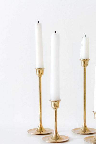 Thrifty Décor-Brass Candlesticks