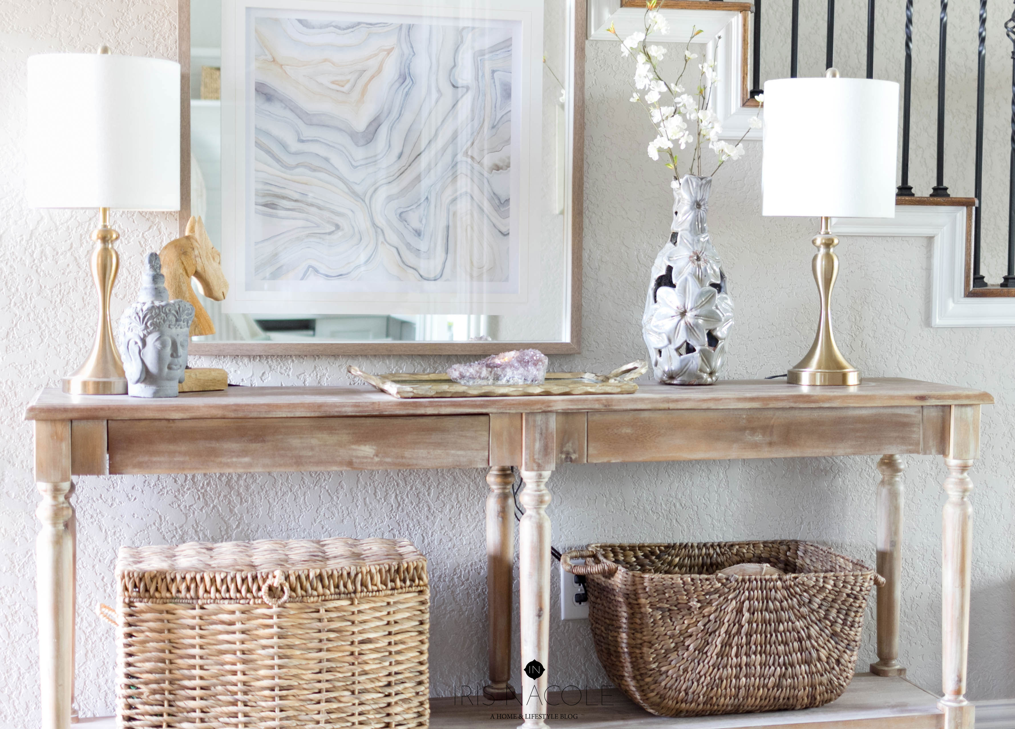 Foyer Table Styling : Entryway console table styling tips how to decorate any