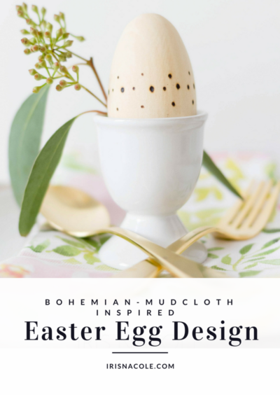 Bohemian-Mudcloth Inspired Easter Eggs