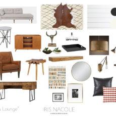 "One Room Challenge: ""Men's Lounge"" (Week 5)"