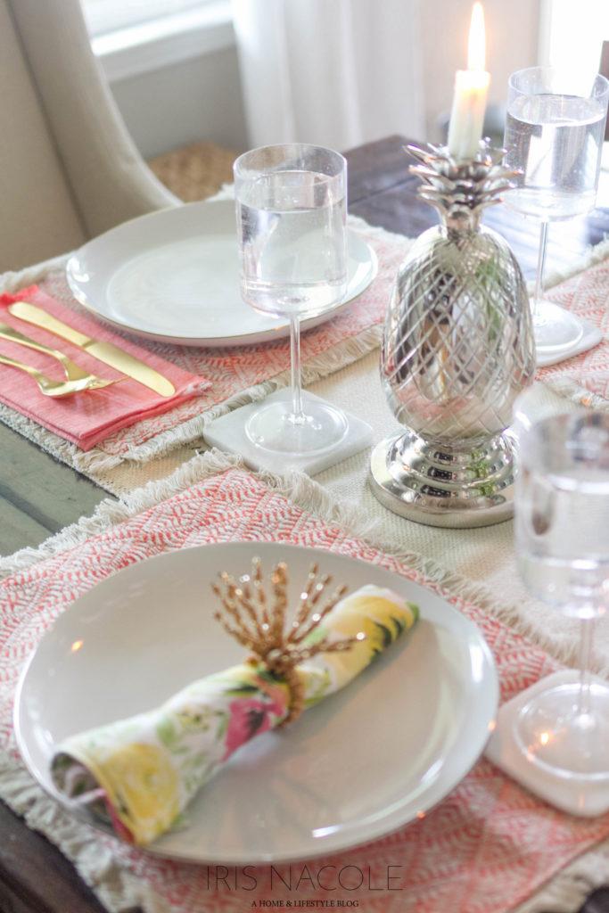 Beautiful Summer Tablescape/Table Setting Ideas IrisNacole.com