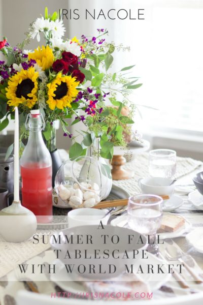 Casual Dining: A Summer to Fall Tablescape with Cost Plus World Market
