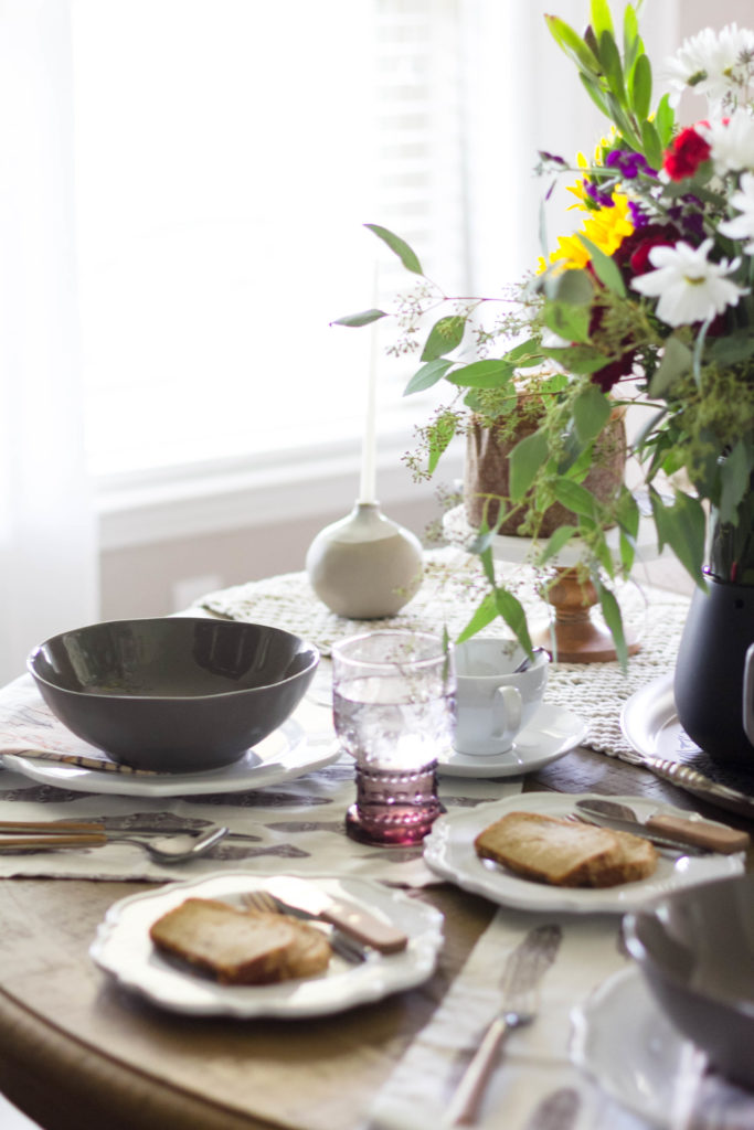 Boho tablescape with Cost Plus World Market and IrisNacole