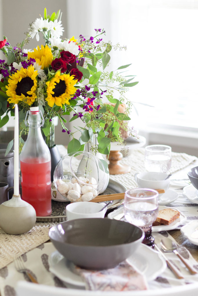 A fall to summer tablescape by IrisNacole for Cost Plus World Market