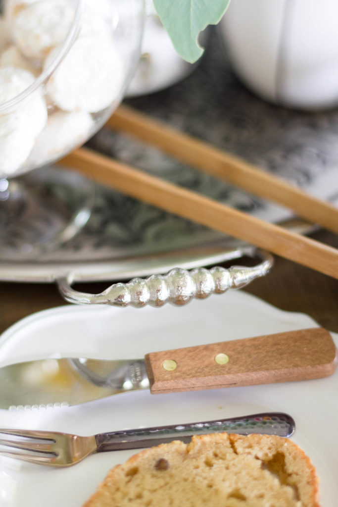 Silver Platter as centerpiece Cost Plus World Market