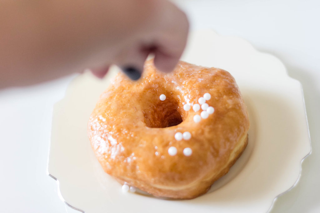 Fancy Donut Hack Using Store Bought Glaze Donuts