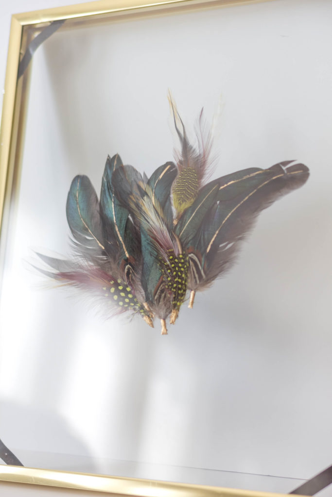 gold-bohemian-feather-art-diy-irisnacole-com-2