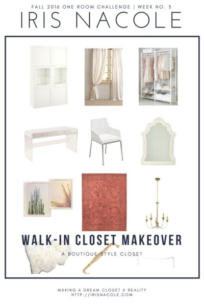 One Room Challenge: A Boutique Style Closet (Week 3)