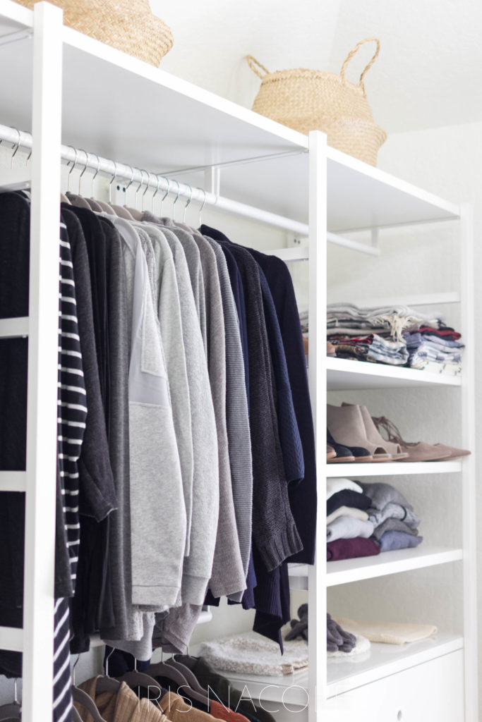 A Bohemian Boutique Style Walk-in Closet Makeover by IrisNacole.com