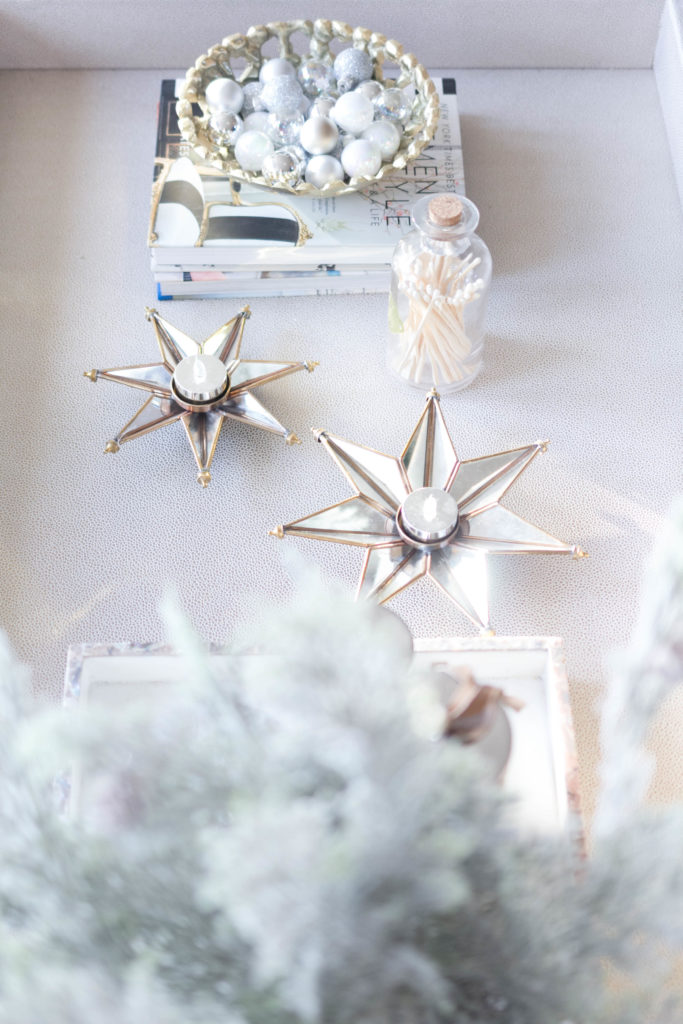 cozy winter living room coffee table decor-bohemain-glam-christmas-home-tour-iris-nacole-living-room-tour