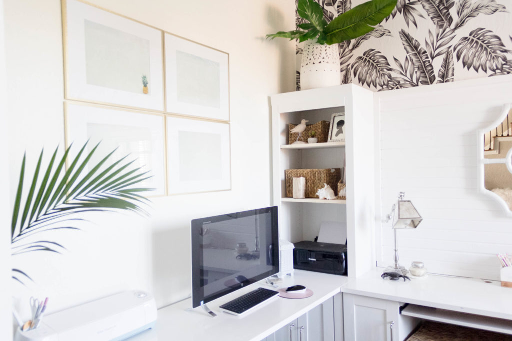 DIY Art Gallery-Unsplash.com-Pineapple-new-year-new-room-office-refresh-a-tropical-chic-home-office-IrisNacole.com