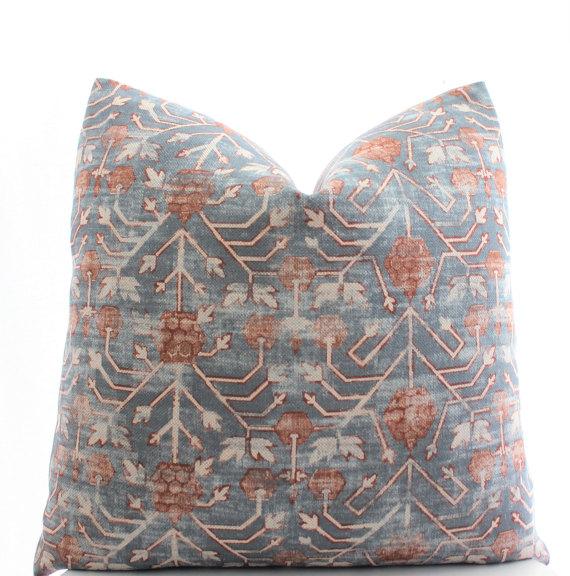 Boho Pillow- Zak and Fox Khotan in Rubia Cotton Linen Pillow