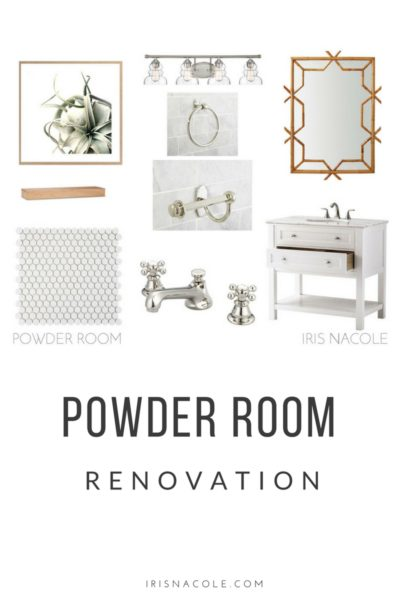 A Beachy White Powder Room Remodel