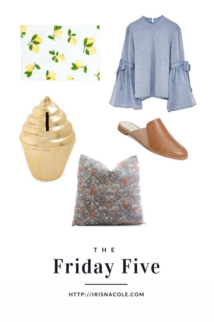 The Friday Five-IrisNacole.com-Week 1-Decor-Fashion