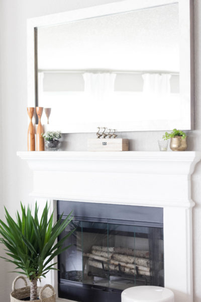 Spring Mantel Styling: A Vintage Garden-With Thrift Store Decor