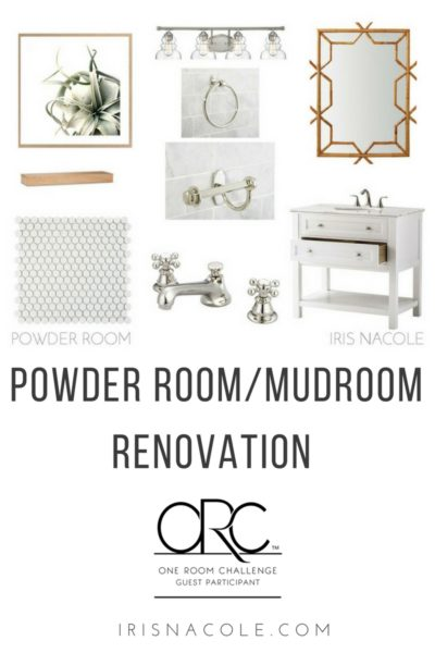 One Room Challenge: Powder Room / Mudroom Renovation (Week 5)