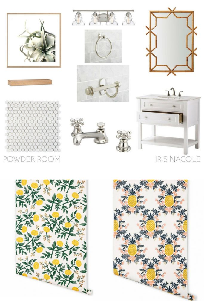 Powder Room Design With Wallpaper Iris Nacole