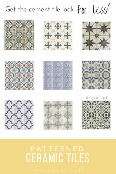 Look for Less: Patterned Ceramic Tiles