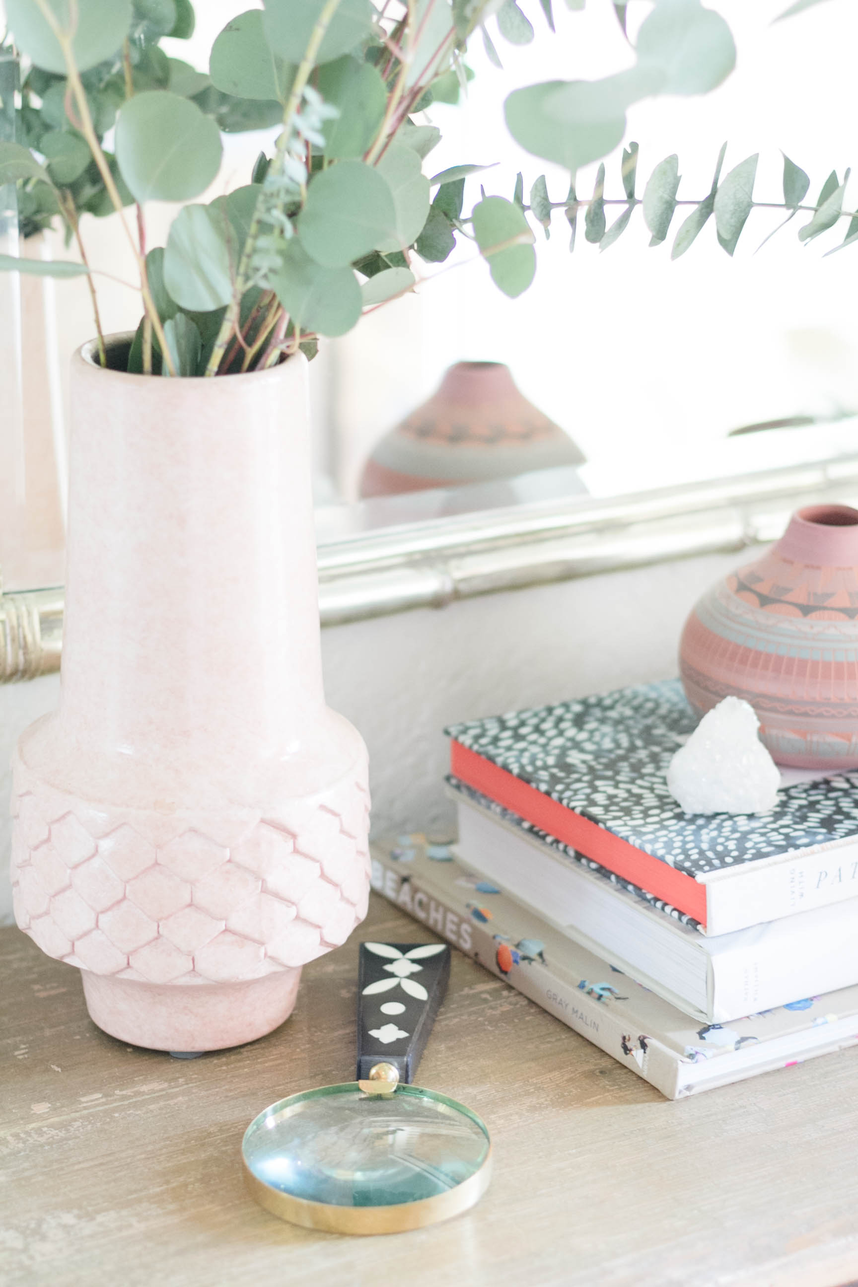 Summer Eclectic Console Table Styling by Iris Nacole