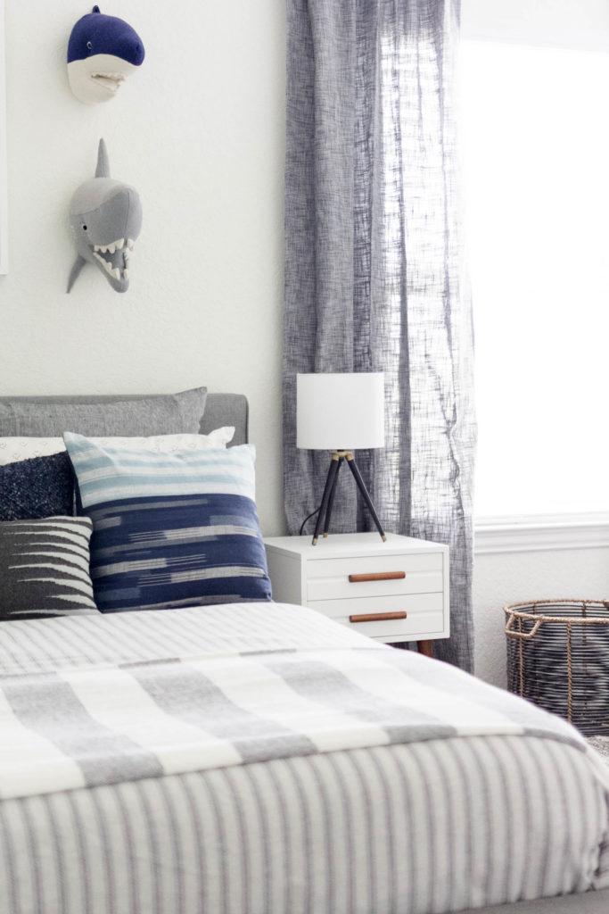 Modern Beach-Big Boy Bedroom-Makeover-Home Makeover-Kids Bedroom Inspiration-Bedding-IrisNacole.com