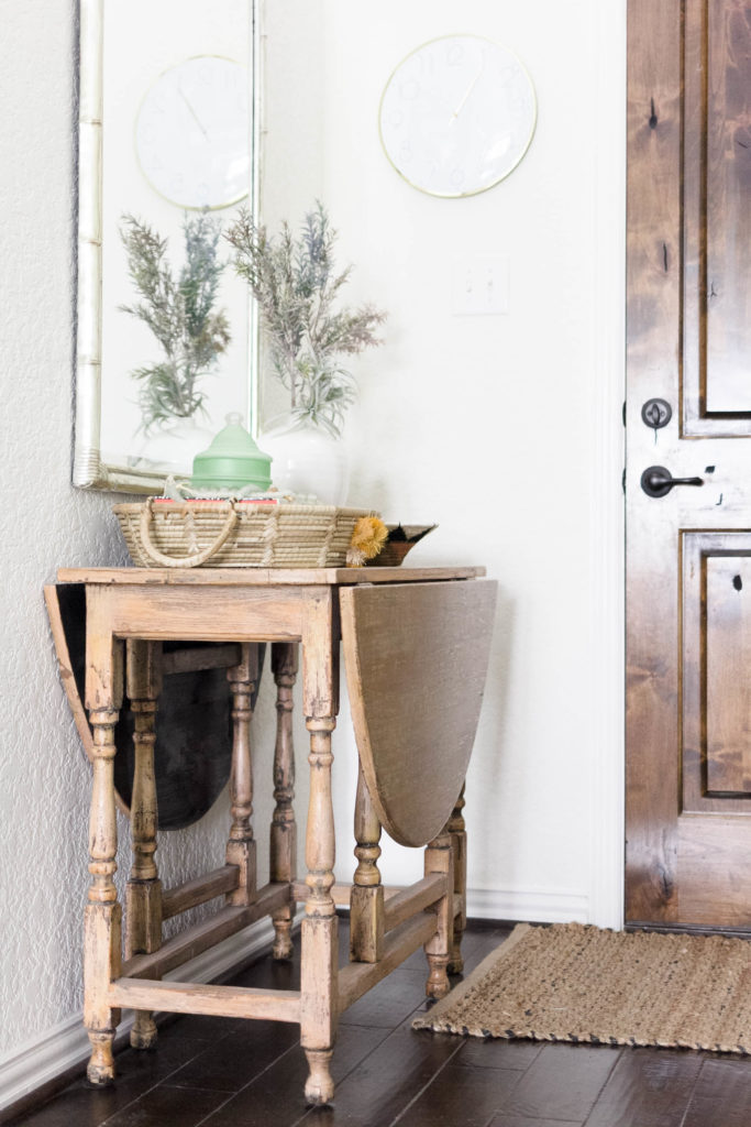 Coastal Farmhouse Entryway Table Design by Iris Nacole