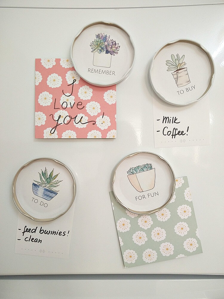 Kreativ K-Succulent Magnet Tutorial on The Creative Circle Link Party