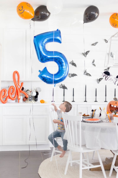 A Kid-Friendly Halloween Themed Birthday Party