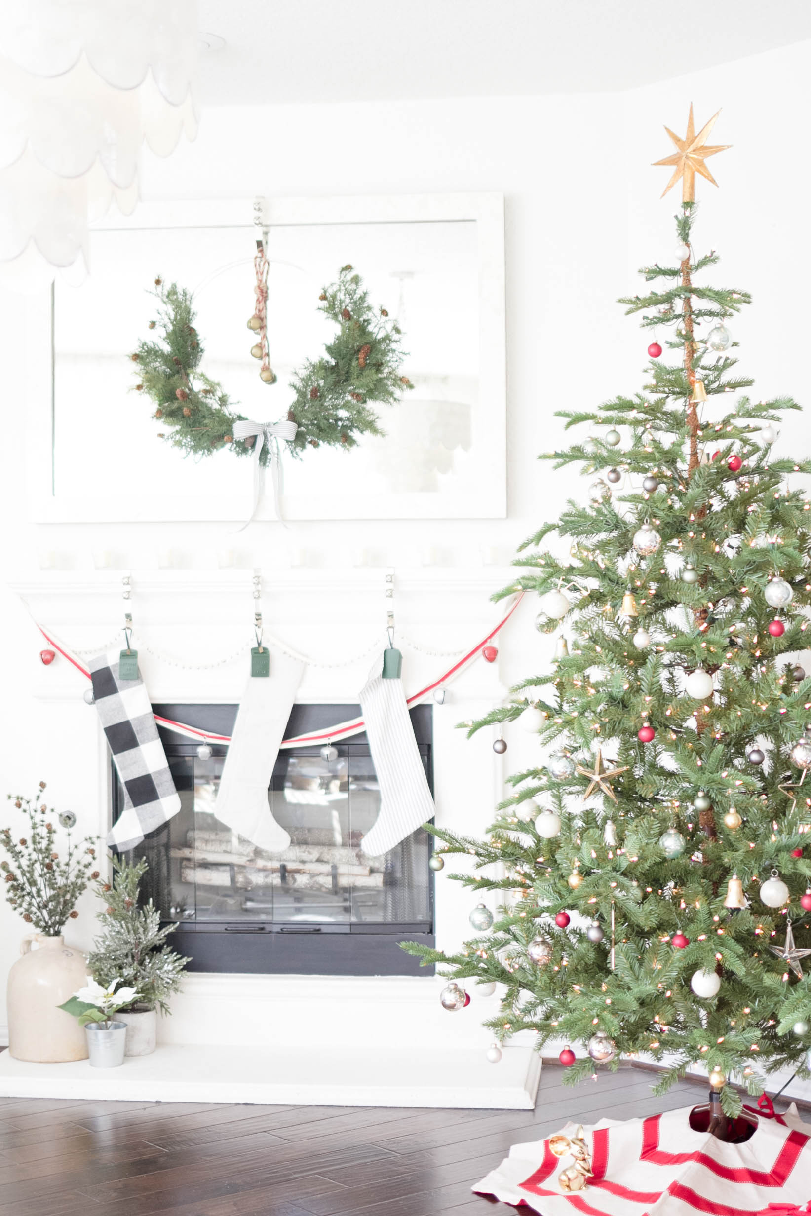 My Home Style Blog Hop Christmas Tree Edition IrisNacole.com 2017-SImple Vintage Decorating