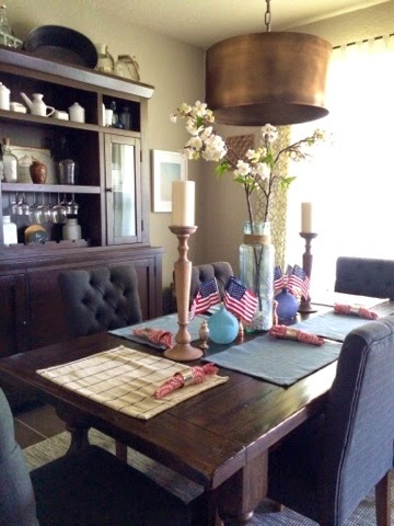 Fourth of July Table Scape