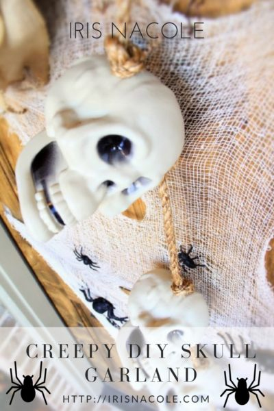 DIY Outdoor Skull Garland