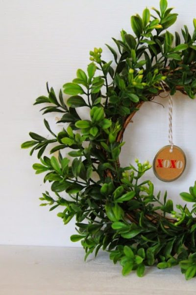Valentine's Day Craft-Boxwood Wreaths
