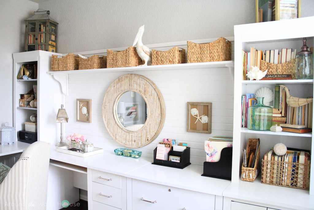 Coastal Decor-Home Office-One Room Challenge