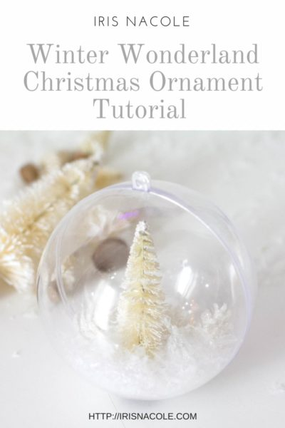 DIY Christmas Ornament-Blog Hop