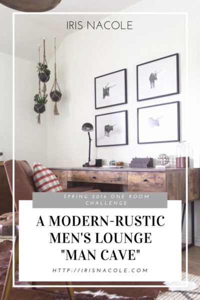 """One Room Challenge: """"Men's Lounge"""" (Week Six-The Reveal)"""