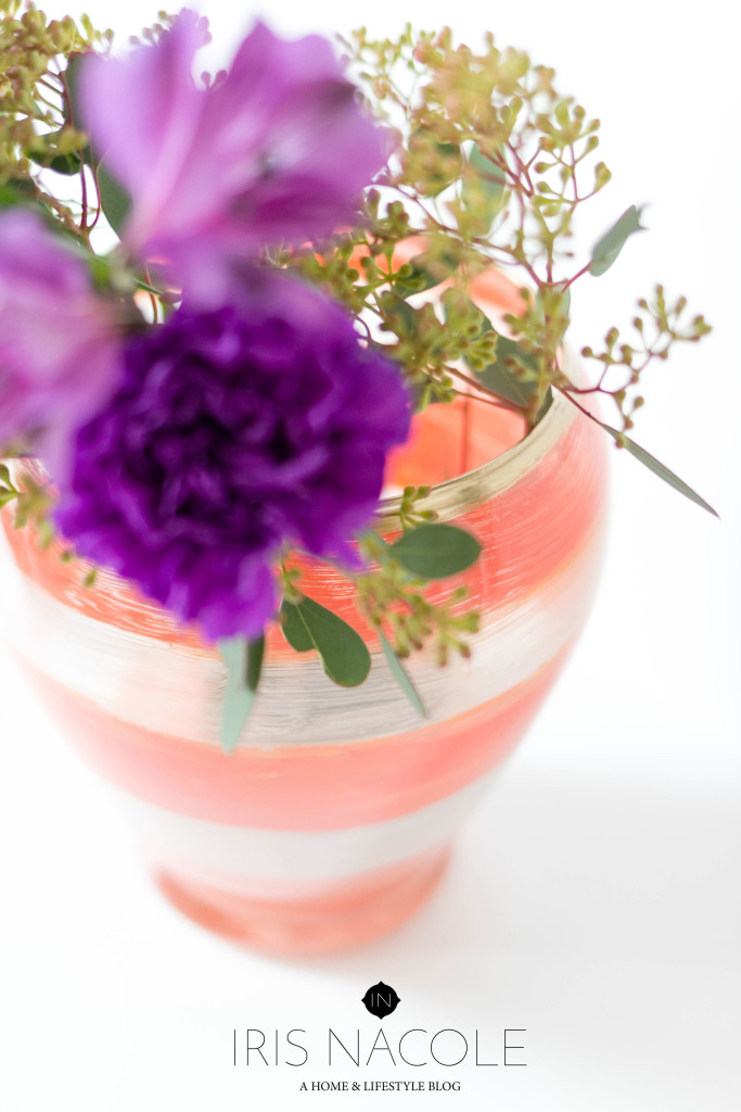DIY Kate Spade Inspired Vase-Knock it Off DIY IrisNacole.com