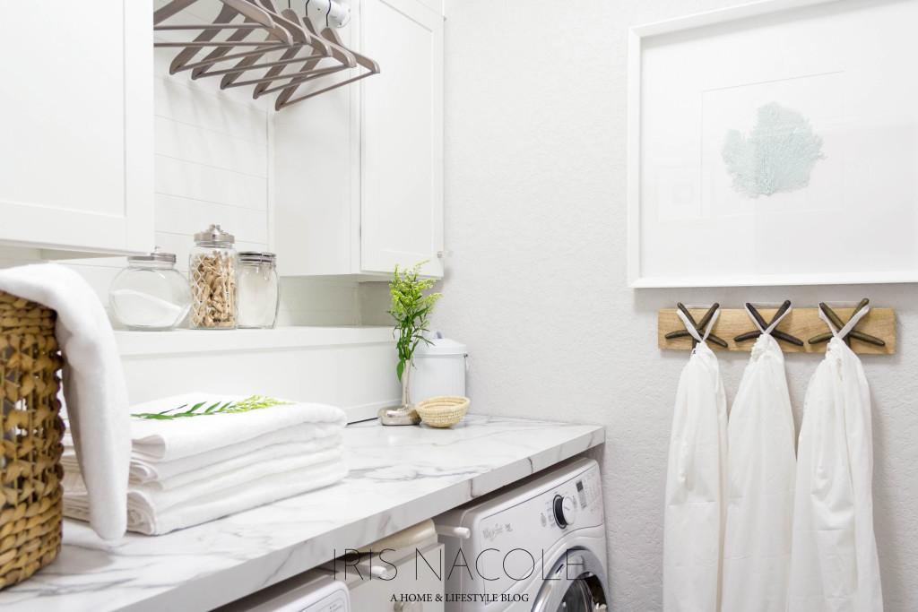 Laundry Room Makeover Coastal Farmhouse Decor
