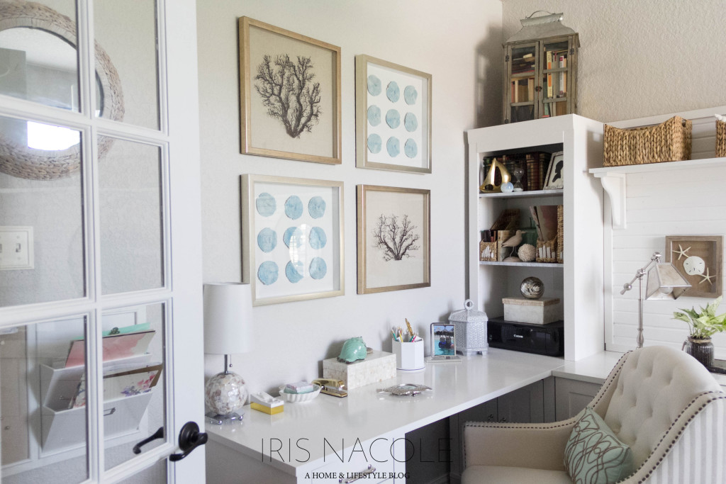 Coastal Office Home Tour IrisNacole.com