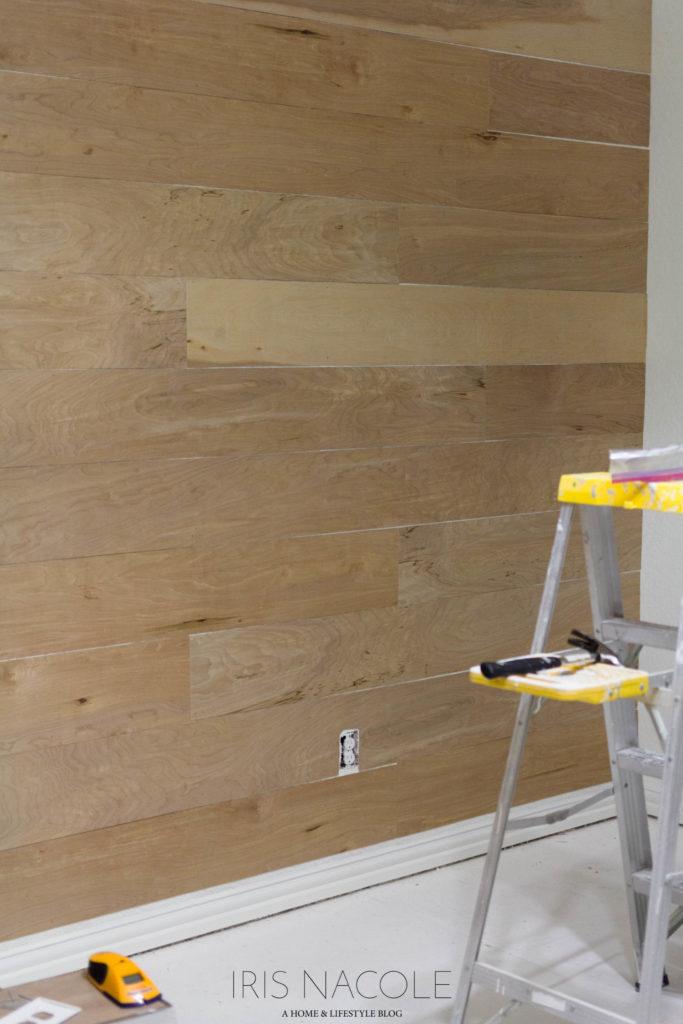Faux Shiplap Wall One Room Challenge Men's Lounge