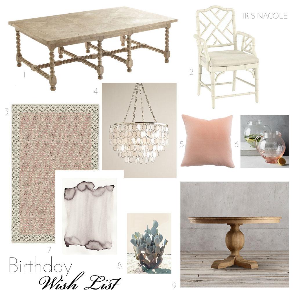 Birthday home decor wish list iris nacole for Home wish list