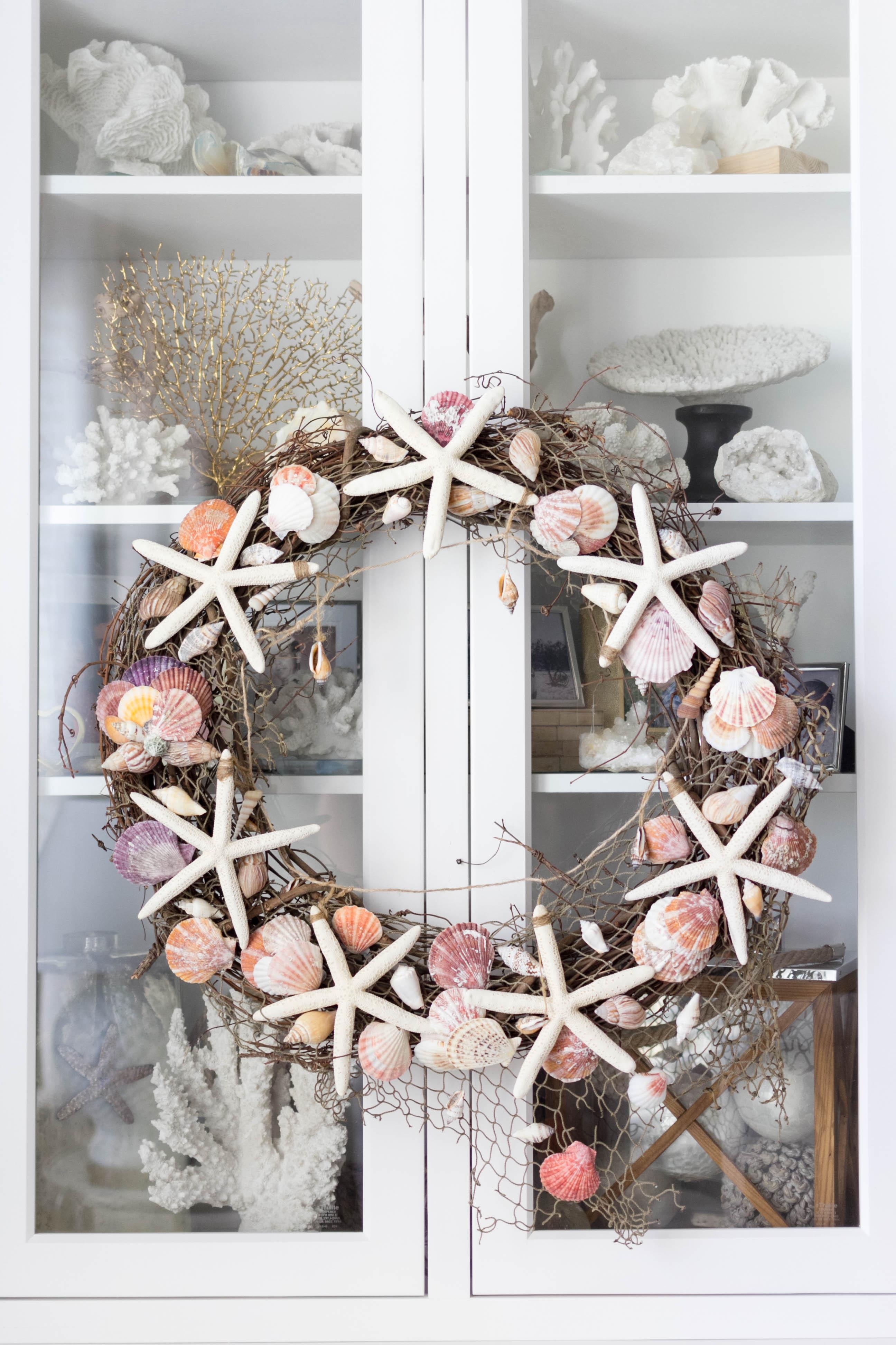 Coastal Shell Wreath by IrisNacole.com (Inspired By DIY)